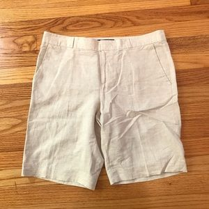 Banana Republic Bermuda Shorts Linen Blend Beige